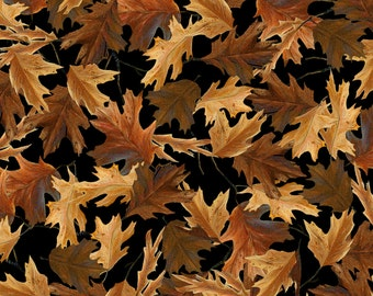 Leaves Brown Fabric