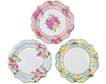 Vintage Look Paper Plates