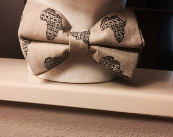 Africa Print Bow Tie