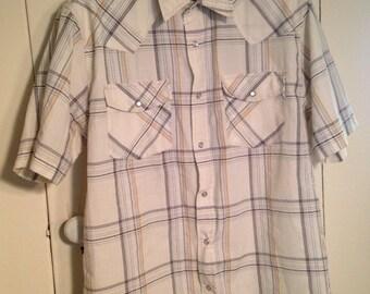 Short Sleeved Plaid Button-down
