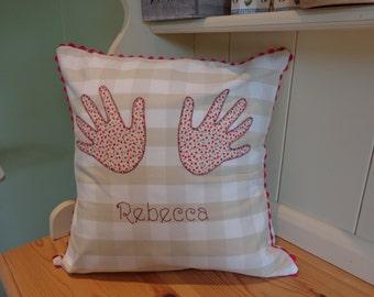 Childs Handprint Cushion