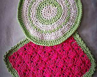 Crocheted Hot Plate Pads (set of 2)