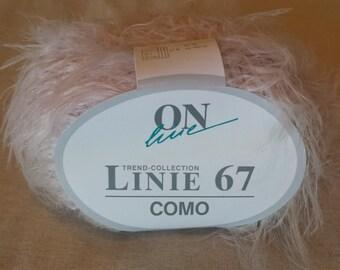 ONline Linie 67 Como Eyelash Yarn 100% Polyamid  Color 20  Pink