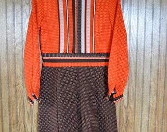 R & K Knits vintage dress