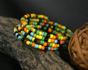 Multi-colored Memory Wire Bracelet