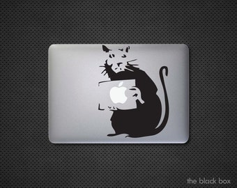 Banksy inspired Rat Macbook decal - Macbook sticker