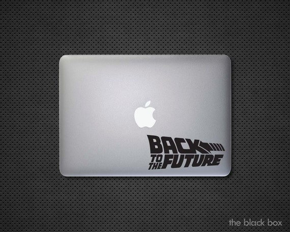 back to the future macbook decal macbook sticker. Black Bedroom Furniture Sets. Home Design Ideas