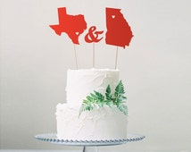 last minute wedding cake toppers unique state cake topper related items etsy 16721