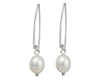 Silver Earrings - Pearl