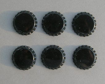 Black Unflattened Bottle Caps