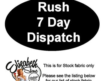 7 Day Dispatch, Rush Order for 1 Elizabeth Stone Designs Dress