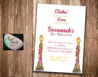 Luau Hawaiian Invitation