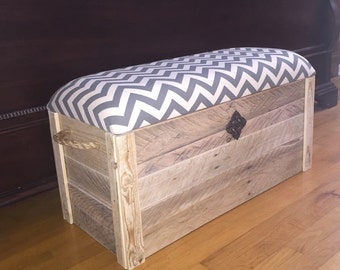 Hope chest- Toy box - Entryway bench - Storage bench - Cushioned bench - Storage Chest