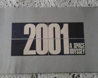 Original 2001 A Space Odyssey Souvineer Movie Program copyright 1968
