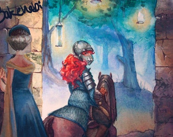 Lady Knight Print