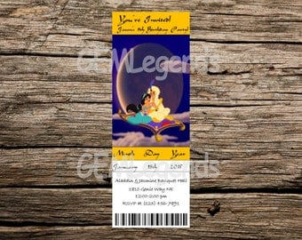 Aladdin Birthday Invitation, Aladdin Birthday Party, Aladdin Party, Aladdin Birthday, Aladdin Invite, DIGITAL DOWNLOAD