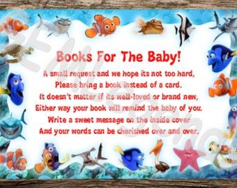 Nemo Baby Shower, Finding Nemo Baby Shower, Book Instead Of Card, Digital  Download