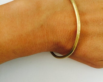 SOLID BRASS ROUGH finish bracelet