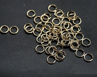 B0002/Anti-Tarnished Gold Plating Over Brass/3mm Jumpring/3mm inner diameter,0.6mm thickness/7g(Approx 100pcs)
