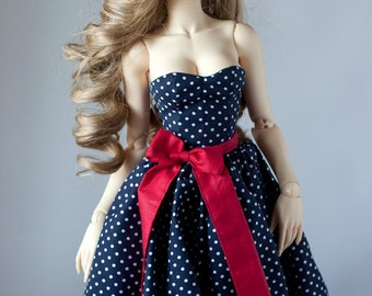 Sd BJD clothes - Pin-up Style Dress (Soom Super Gem) for SD16 Girl - PREORDER