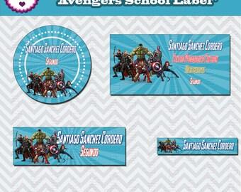 Avengers Label, Avengers, Avengers School Label