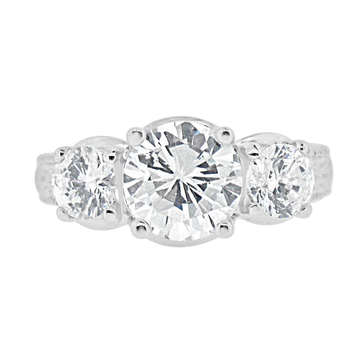cz engagement wedding ring past present future 2 15 carat
