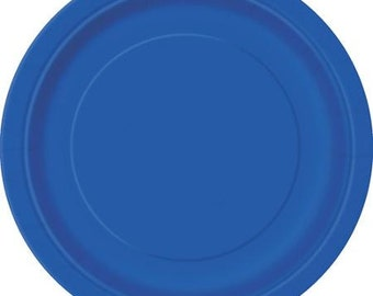Blue Dessert Paper Plates (7in.)  70ct