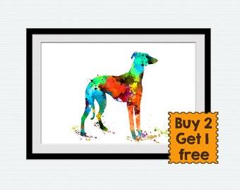 Hound dog print, Watercolor dog art print, Dog wall decor, Animal print dog poster, Dog lover, illustration, poster gift, dog artwork W3
