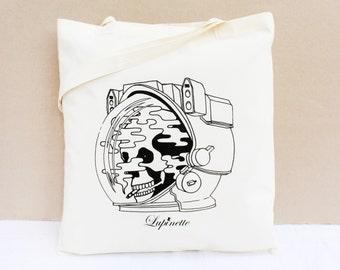 Cotton Tote Bag / Shopping bag / Organic Cotton Bag - The Smoker