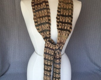 Hand knitted Scarf - Colors Gradiate