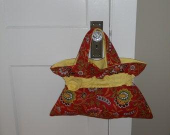 Maroon and Yellow Handmade Purse