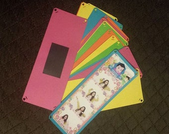 Photo Booth Strips 2x6 Cardstock Frame Magnet - Candy Shop Color (30pcs)