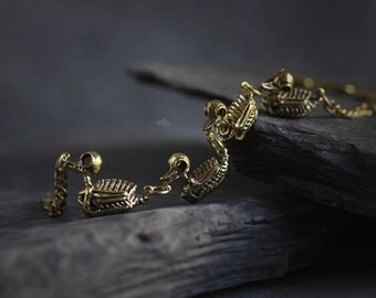Mallard Mother Duck and Ducklings Skeleton Bracelets by Defy / Original Handmade Jewelry / Adjustable Sizes