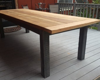 Reclaimed Cedar Wood Farm Table