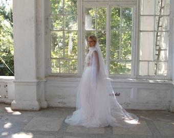 simple veil, Cathedral veil, wedding veil, Bridal veil, single tier, 108 inches, Cathedral Wedding Veil, Ivory Veil, White veil, veils