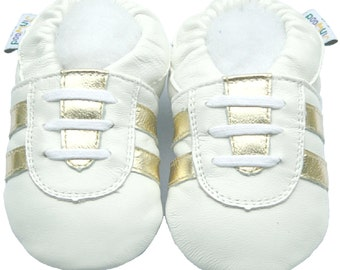 Free shipping Jinwood Soft Sole Leather Baby Shoes Infant Toddler Kids Children Boy Gift Sport White Shoes