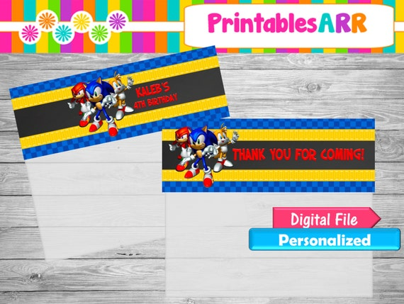 Sonic the Hedgehog Bag Toppers by Printables ARR