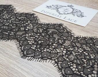 Black lace trim, Chantilly Lace Trimming, Lace Trim  MM00017