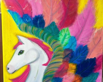 Customize Your Own Pegasus Canvas Painting
