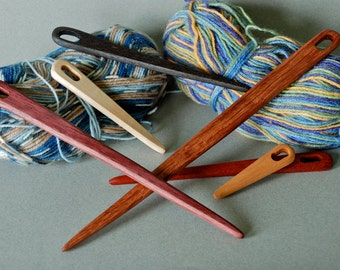 Hand-Carved Wooden Weaving Nalbind Tapestry Viking Needle Shuttle in Multiple Sizes