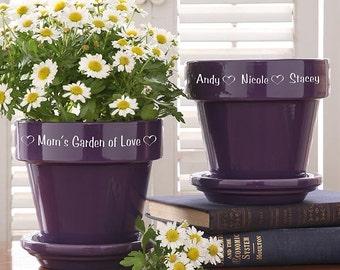 Garden Of Love Flower Pot - Purple