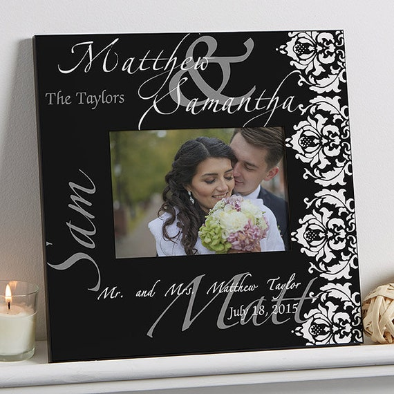 The Wedding Couple 5x7 Personalized Wall Frame