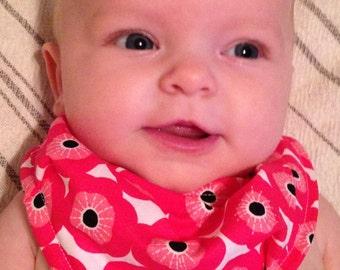 Drool Bib - Pink Poppies