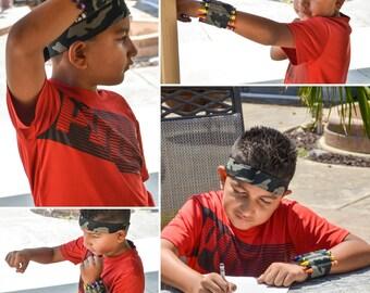 Army crayon bullet cuff and bandana