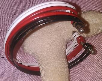 Black. Red, White Bangle Vintage Bracelet