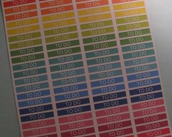 "96 MATTE Primary ""To Do"" Label Stickers for Erin Condren EC Life Planner"