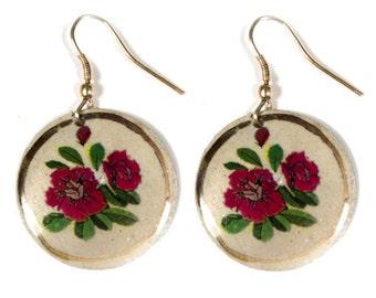 Indian Rose Earrings