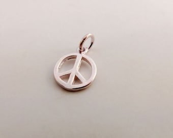 sterling silver peace sign charm sterling silver peace pendant 925 sterling silver