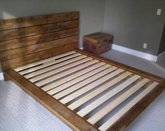 Custom Queen Sized Rustic Platform Bed