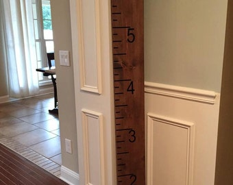 Wooden growth chart, wooden ruler, Ruler, growth chart